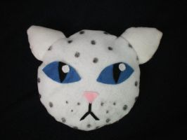 Snow Leopard Pillow by catgirl5472