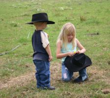 Cowboy and Girl 3 by Paigesmum-stock