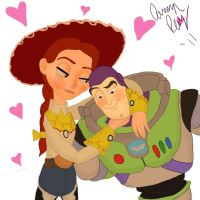 Jessie and Buzz Equals Love by Impano