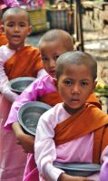 Young Burmese Nuns by CitizenFresh