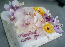 Cake with flowers by 6eki