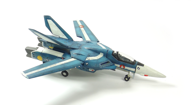 1/144 VF-1J Valkyrie (Happinet-CharaWorks) by Zero-Cannard
