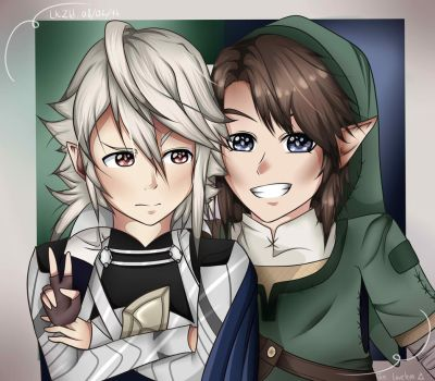 Link and Corrin by ZELDIENNEYTB