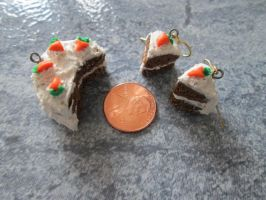 Carrot cake earrings and charm by DefineImagination