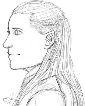 Legolas sketch by murdoc97