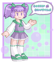 Grape-Chan by DoubleLeggy