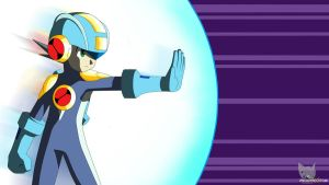 Megaman Barrier BattleChip Wallpaper by Mega-X-stream