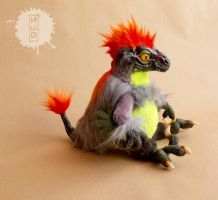 Raptor chick OOAK art doll - SOLD by hikigane