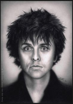 Billie Joe Armstrong - Pencil Drawing by D17rulez