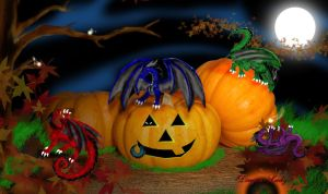 Pumpkinedens Dragons by CrystalJoy-Creations