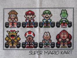 Super Mario Kart Cross Stitch by DawnMLC