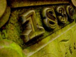 Gravestone close up by cottoncandycookie