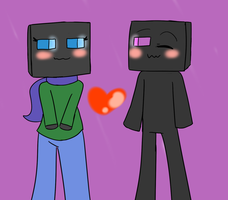 RQ: hannah and enderman by greenwolfs12