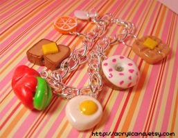 Breakfast Time Charm Bracelet by tedsie