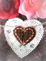 Chocolate Heart Necklaces by XxViolentxLolitaxX