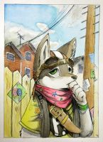 Suburban Soldier by Blue-Paper