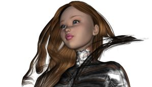 3d Sci-Fi Girl Face by yeranarraila