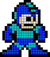 Tetris Mega Man Sprite by mike1967-now