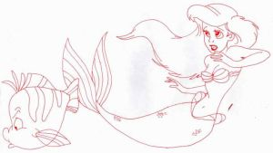 Ariel And Flounder by usagisailormoon20