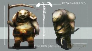 Bear Warriors - Character Design by Brollonks