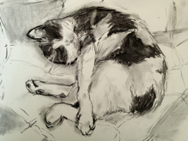 Callie Kitty Charcoal by syrellium