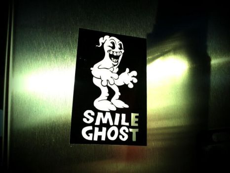 Smile Ghost Sticker by ButchAdams