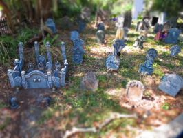 Halloween Graveyard Miniature by Dream-finder