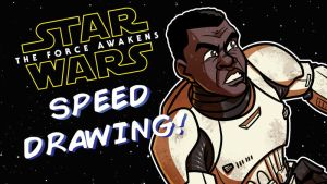 TFA Speed Drawing - 3 of 9 - Finn by JoeHoganArt