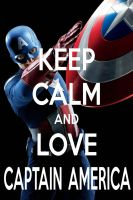 KEEP CALM AND LOVE CAPTAIN AMERICA by AMEH-LIA