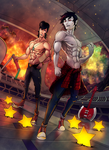 C : Space Dandy and Marshall Lee by greggileano