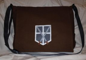 Trainee Academy Attack on Titan Messenger Bag by Tirrivee