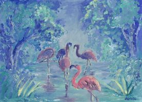 Flamingo Swamp by denn