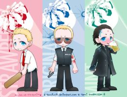 Three Flavours Simon Pegg by tencinoir
