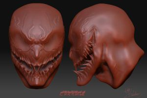 Carnage Zbrush bust by Pencil-Fluke