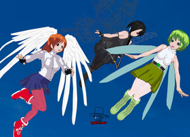 Winged Girls by RedFalcon23