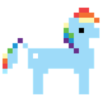 Rainbow Dash Hub 8 bit promo vector by Skeptic-Mousey