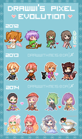 Drawwi's Pixel Evolution by drawwithme15
