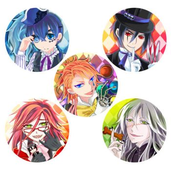 Black Butler Ornaments Coloured by CRINS