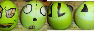 Invader Zim Eggs by MetasActReon