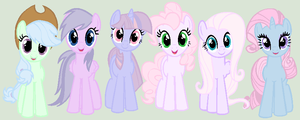 Pastel recolor pony adopts by xBubblyTeax