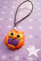 Halloween_Owl_Phone strap by missbeautifool