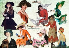 Ladies Cover Magazines png's by libidules