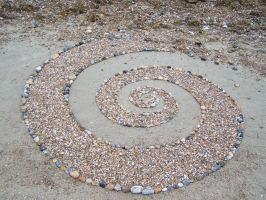 Beach spiral 2 by Dishtwiner