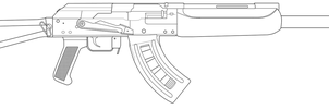 Saiga lineart by andrewbig