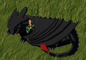 another toothless by JonnDrakea