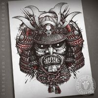 Samurai Head by DeadInsideGraphics