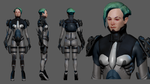 SciFi Lady high poly by SpartanIdeal