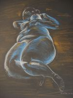 Life drawing on black paper by Niina-Bean