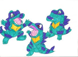 Clone Shiny Totodile by CartoonLover97