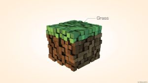 Minecraft Minimalist - Grass by mateusrm94